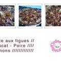 Tarte aux figues - muscat - poire - pignons ///