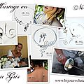 Mariage en noir - robe de mariée noir ou gris et bijoux mariage noir