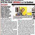Bref, je suis un prof - isabelle rivest & dominic leclerc (2014)