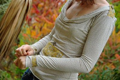 jersey coton écru pois gris