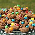 Cookies chocolat et m&m's