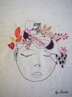 fille d'automne broderie