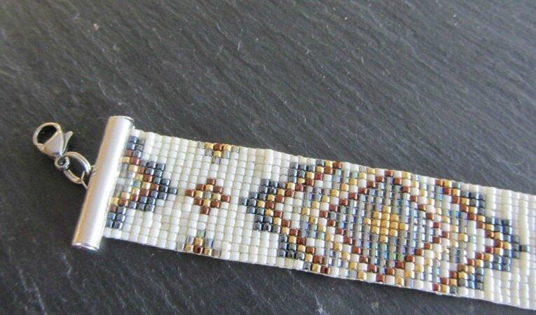 bracelet épais blanc 4