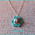 284 - Pendentif Hello Kitty vert