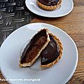 Tarte choco marron orangeat