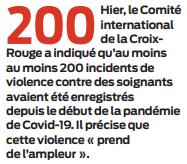 2020 05 28 SO Violence contre des soignants