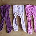 Cab15 - 3 collants unis 17/18