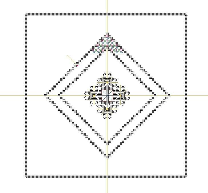 carré centre grille pt