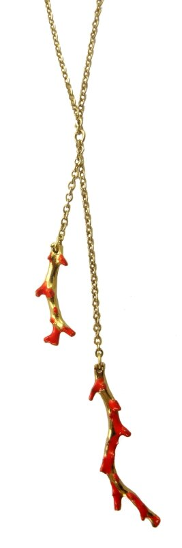collier corail double or
