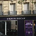 Urban decay et sa collaboration avec gwen stefani et pop up store à paris!