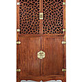 A magnificent and extremely rarehuanghualisquare-corner display cabinet, late ming dynasty