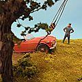 Triumph TR4 & Wrecker Crane -