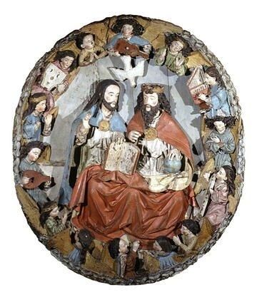 La Sainte Trinité aux anges musiciens, XVIe, musée breton