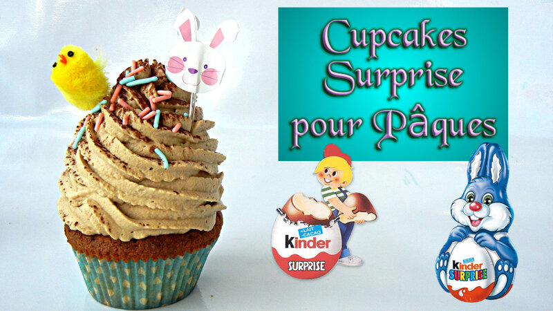 vignette cupcakes kinder surprise prunille