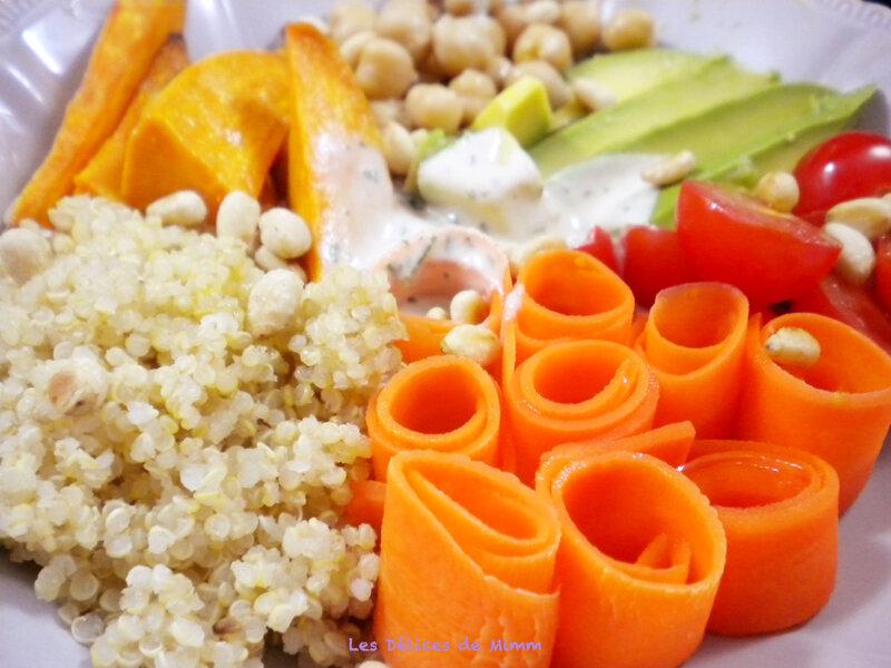 Buddha bowl végétarien, sauce au sésame 3
