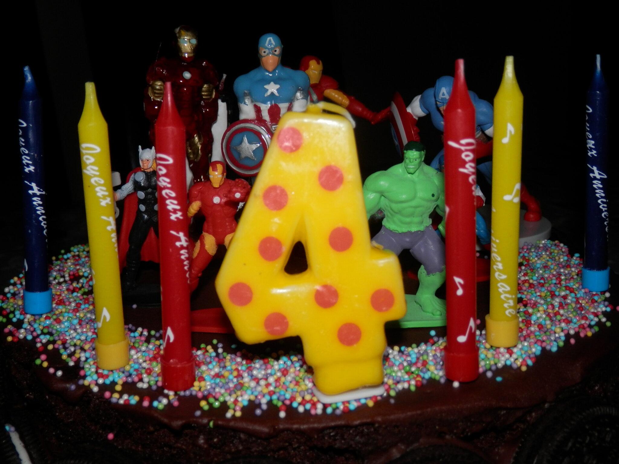 Gateau pour anniversaire 4 ans