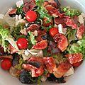 Salade de tomates cerises aux figues fraîches