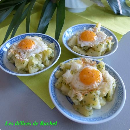 salade PDT oeuf caille