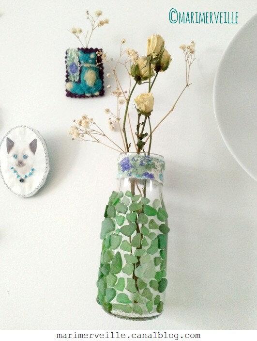 Vase verre dépoli - DIY Marimerveille