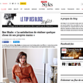 Interviewée par l'express styles