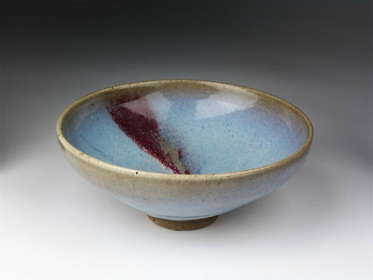 Blue glaze and copper-red splash bowl, Jun ware, China, Northern Song-Jin dynasty, 12th-13th century