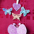 Broches papillons strass