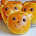 Brioche nounours aux épices de pain d'épices, sans beurre