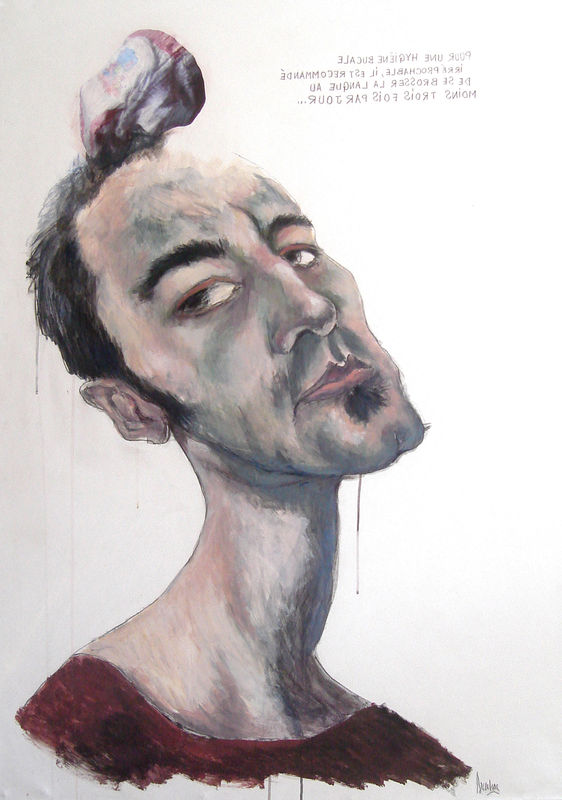 autoportrait au lange
