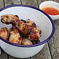 Pilons de poulet dorés, parfumés et faciles à l'actifry