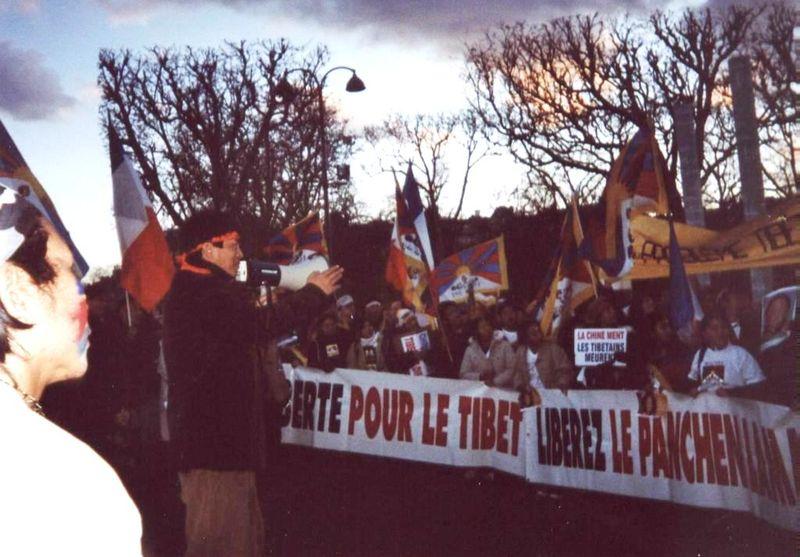 Au Mur de la Paix le 21 mars 2008 avec Thoupten