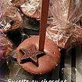 Sucette de chocolat pour boisson chaude