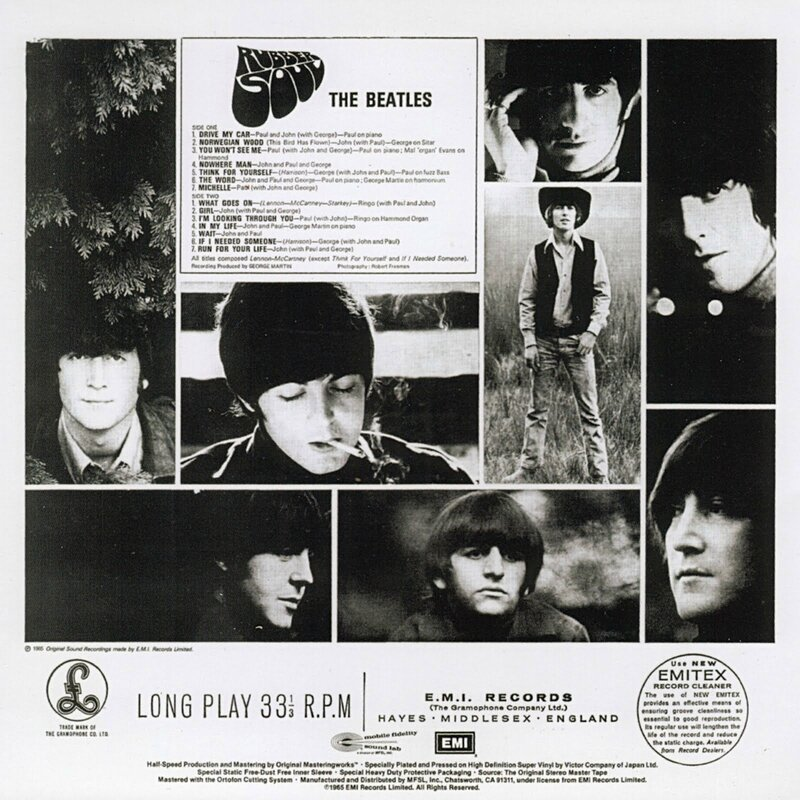 Beatles - Rubber Soul 1966 BACK