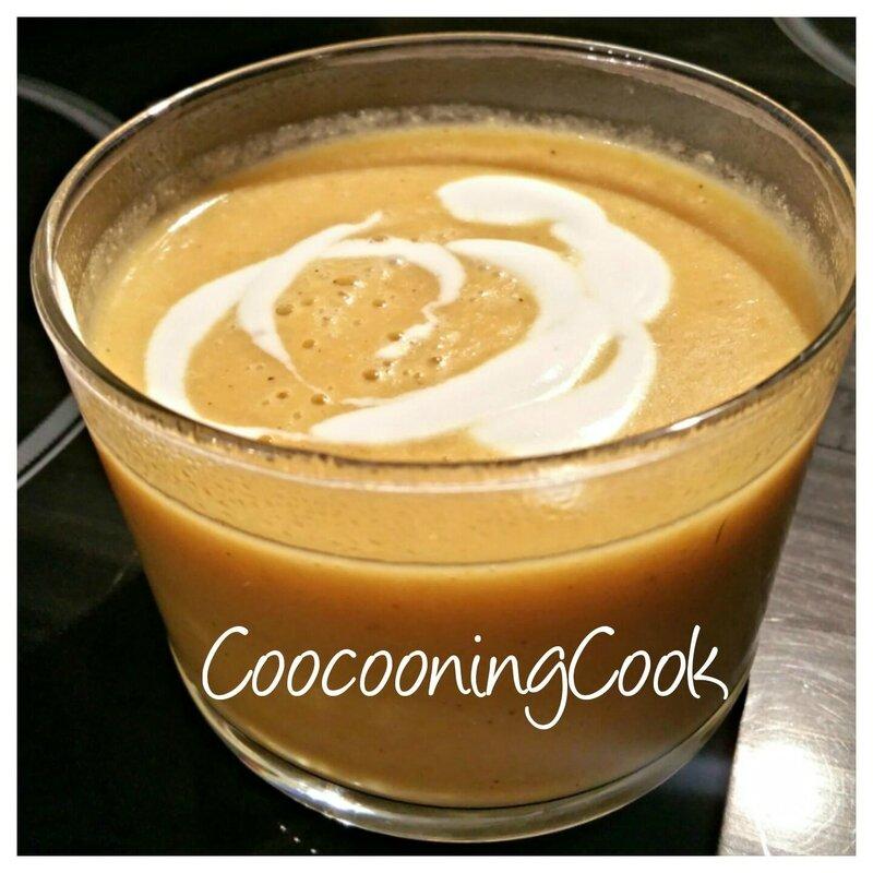 soupe de choux-fleur et lait de coco