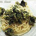 Spaghettis aux brocolis