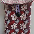Coton bio prune velours milleraie brique lien violet