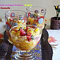 Salade de fruits a l'origan / cannelle et menthe séchée (2)