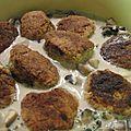 Boulettes de volaille à ma façon, sauce aux champignons