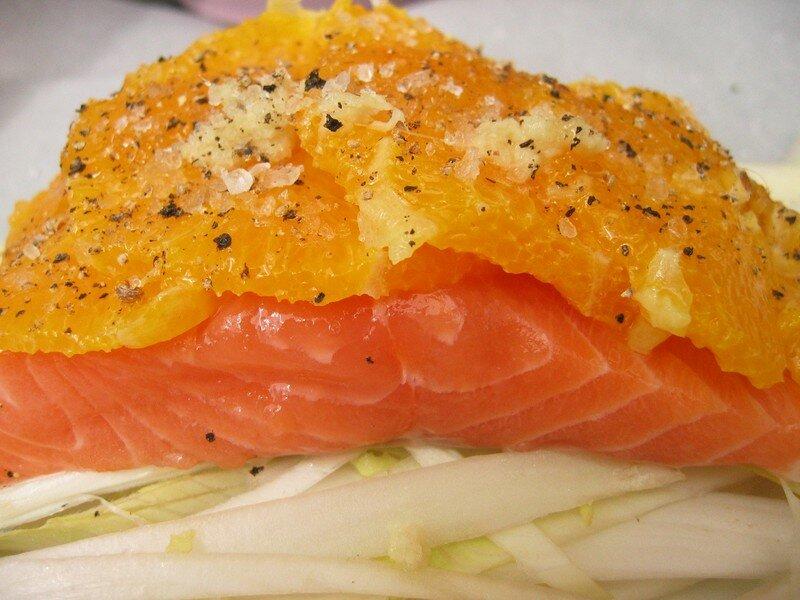 papillotte saumon miel