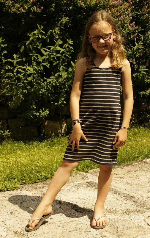 mila robe rayée 01
