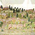Vue globale sur le village avec personnages et finition
