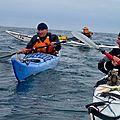 Traversée de la manche en kayak avec jean-claude, non voyant - 2013