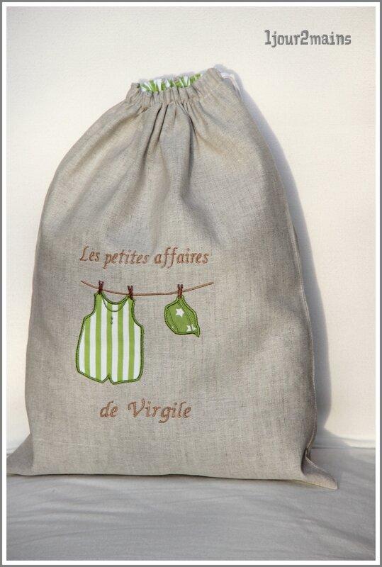 sac virgile corde a linge