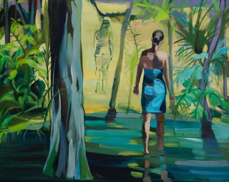 Exotique 8490 - huile sur toile - 100 x 81 cm