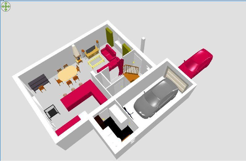 projection 3d construction de notre maison ste marie aux ch nes. Black Bedroom Furniture Sets. Home Design Ideas