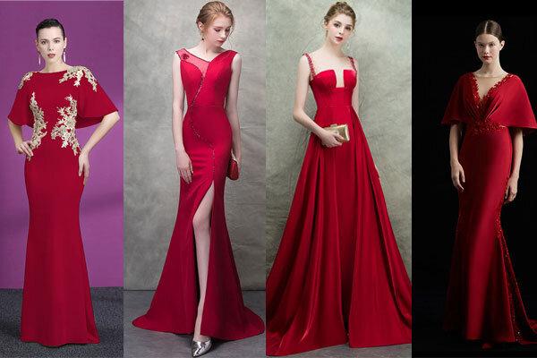 robes de soirée longues rouges tendance 2019