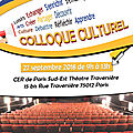 Colloque culturel uaicf le 27 septembre
