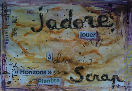 Mail art J'adore jouer juin2013