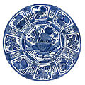 A large blue and white 'kraak' dish, ming dynasty, late 16th-early 17th century