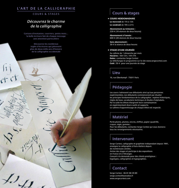 Cours & stages Serge Cortesi