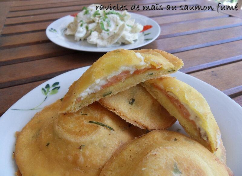 ravioles de maïs au saumon fumé1